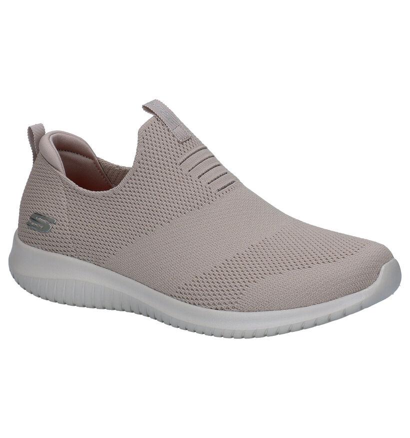 Skechers Ultra Flex Zwarte Sneakers in stof (300920)