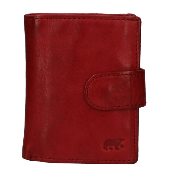 Bear Design Porte-cartes en Rouge foncé