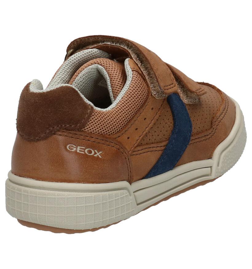 Geox Chaussures basses en Bleu foncé en cuir (265782)