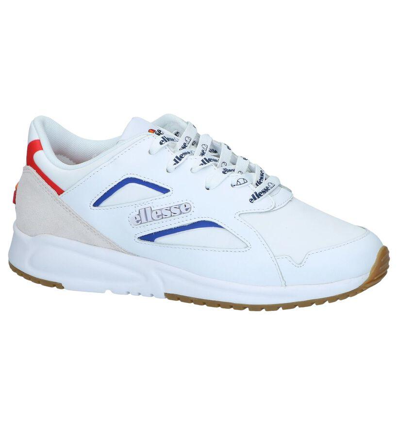 Ellesse Contest Witte Sneakers in stof (241631)