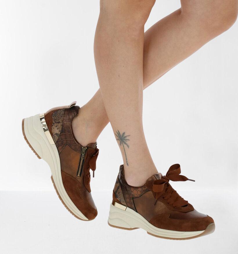 Softwaves Chaussures à lacets en Bronze en cuir (281936)
