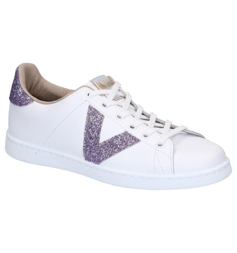 Victoria Chaussures à lacets en Blanc en cuir (275073)