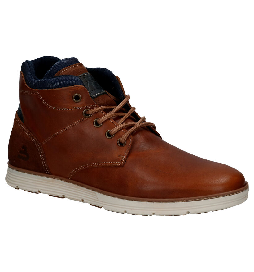Bullboxer Chaussures hautes en Cognac en cuir (281788)