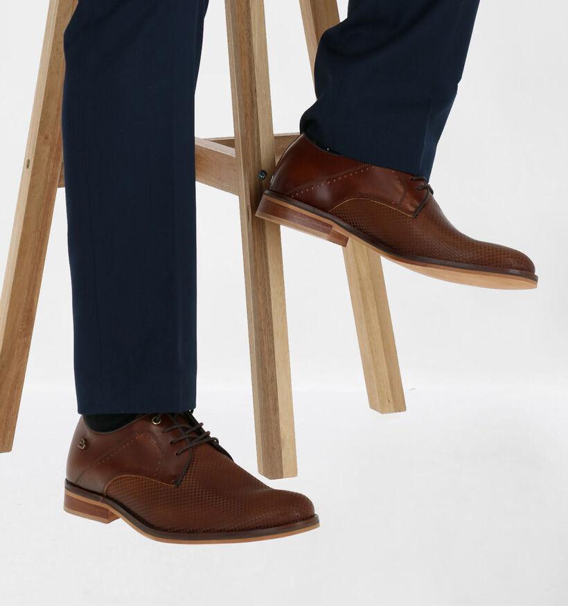 Bullboxer Chaussures habillées en Cognac en cuir (281829)