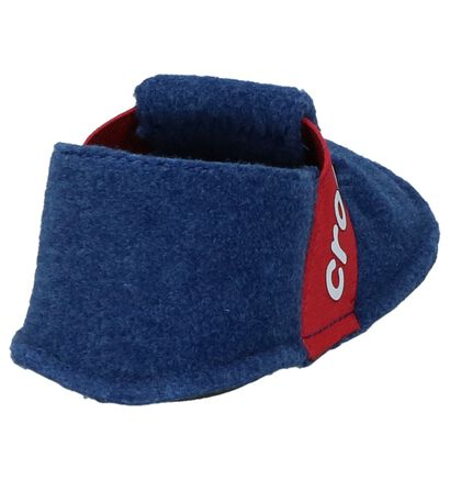 Crocs Classic Slipper Blauwe Pantoffels in wol (224394)