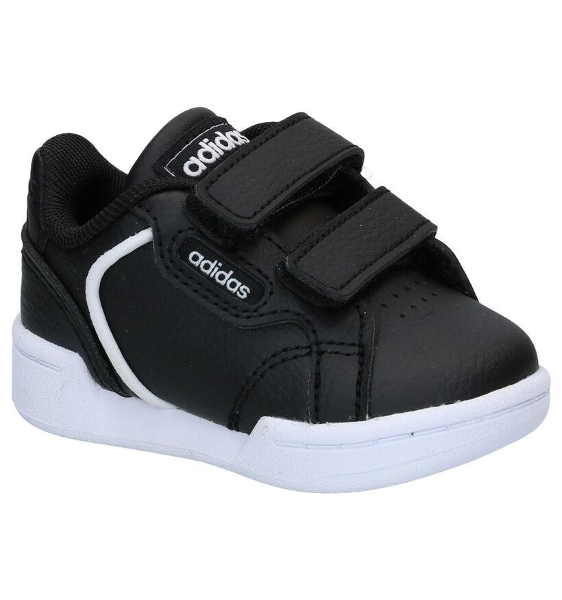 adidas Roguera I Zwarte Babysneakers in kunstleer (284625)