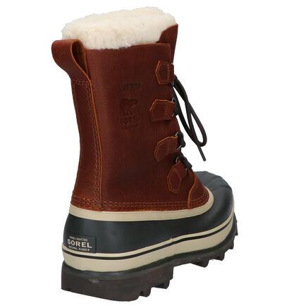 Sorel Caribou Bruine Snowboots in leer (252850)