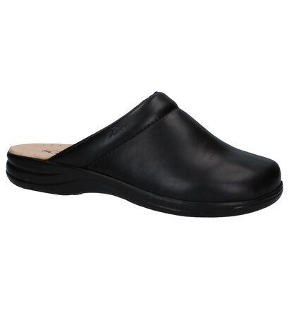 Flexi's Zwarte Pantoffels, Zwart, pdp