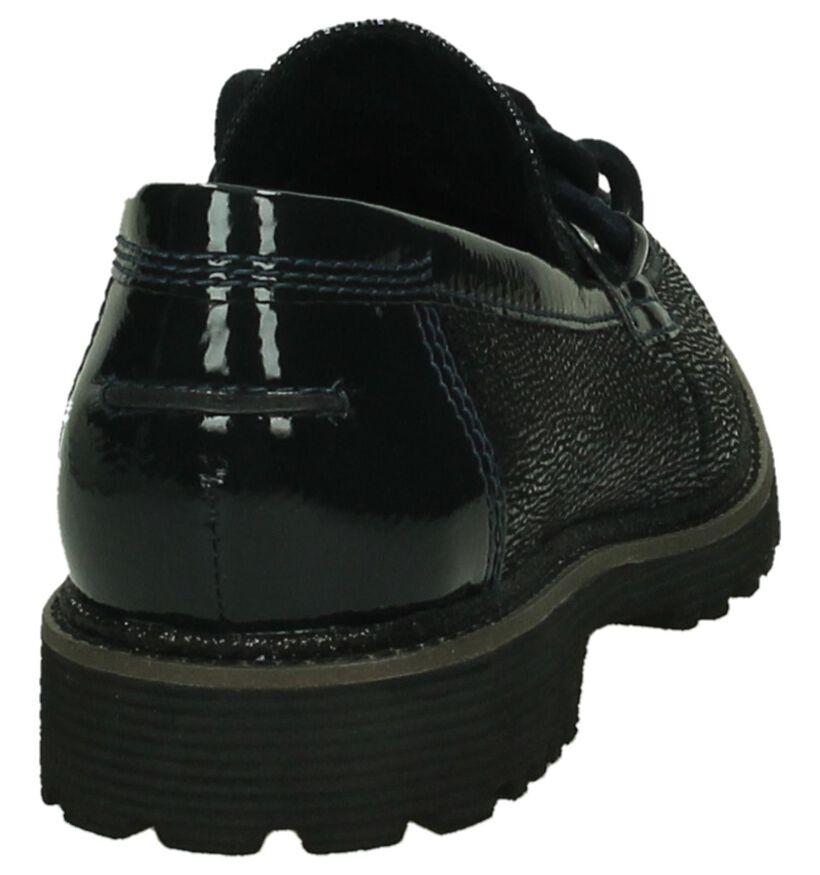 Tamaris Donkerblauwe Loafers in leer (202580)