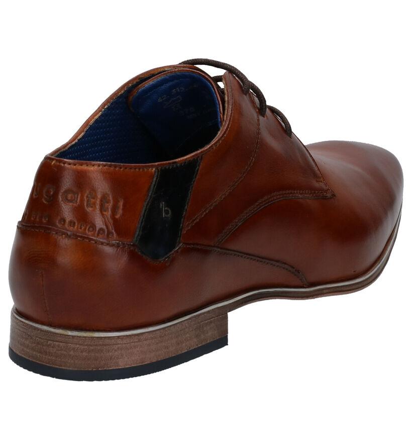 Bugatti Chaussures habillées en Cognac en cuir (266007)