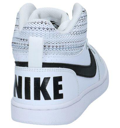 Hoge Sportieve Sneakers Nike Court Borough Wit in leer (222223)
