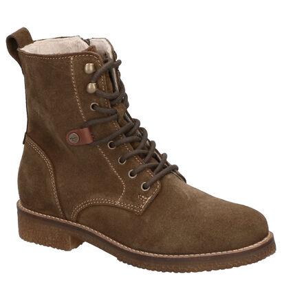 Tamaris Kaki Boots in daim (257280)