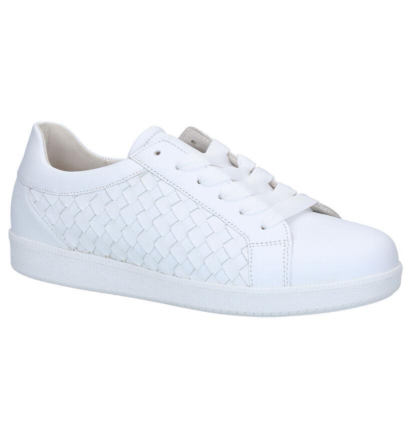 Gabor Best Fitting Witte Veterschoenen in leer (288019)