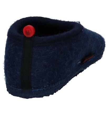 Giesswein Pantoufles fermées en Bleu foncé en laine (235441)