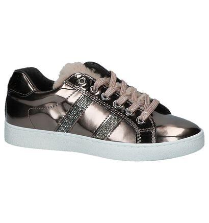 Lage Geklede Sneakers Brons Little David Rolly in kunstleer (232461)