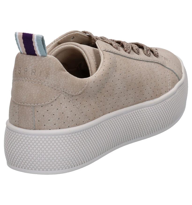 Esprit Beige Sneakers in kunstleer (276791)