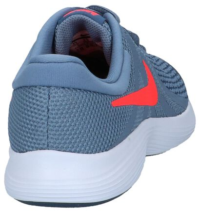 Grijsblauwe Sneakers Nike Revolution 4 GS in stof (222215)