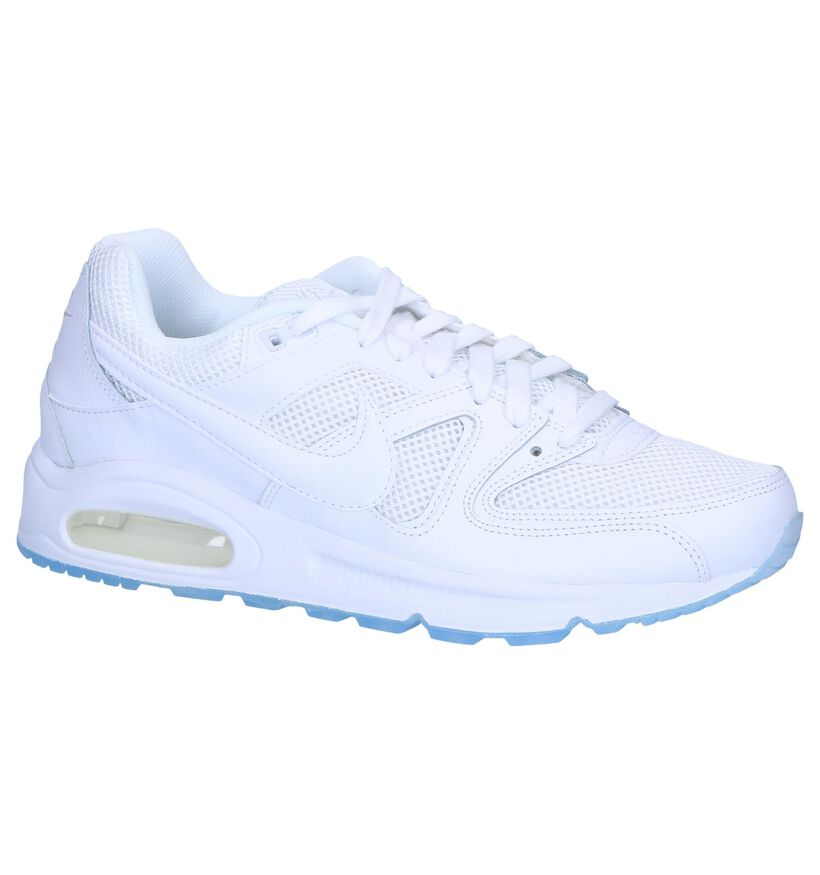 Nike Air Max Baskets basses en Blanc en simili cuir (250286)
