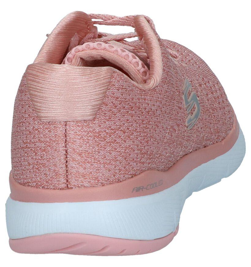 Flex Appeal Baskets basses en Rose en textile (240439)