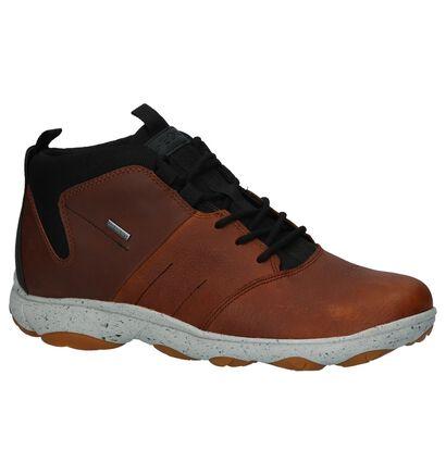 Geox Chaussures hautes en Cognac en cuir (223484)