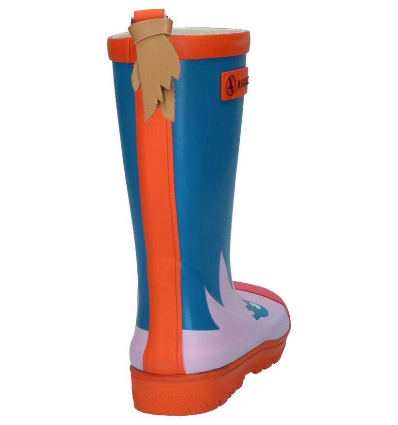 Aigle Woody Pop Fun Multicolor Regenlaarzen in rubber (236012)