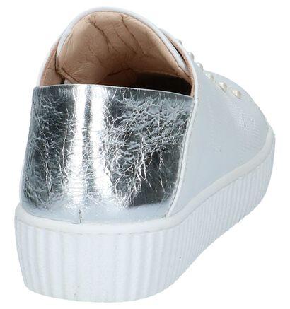 Witte Slip-on Sneakers met Kralen Mjus, Wit, pdp