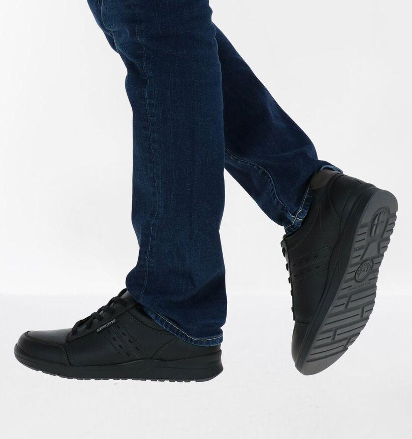 Mephisto Vincente Nevada Chaussures à Lacets en Noir en cuir (281010)