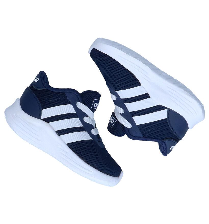 adidas Lite Racer Blauwe Babysneakers in stof (273485)