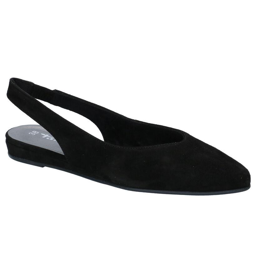 Tamaris Sandales plates en Noir en nubuck (269798)