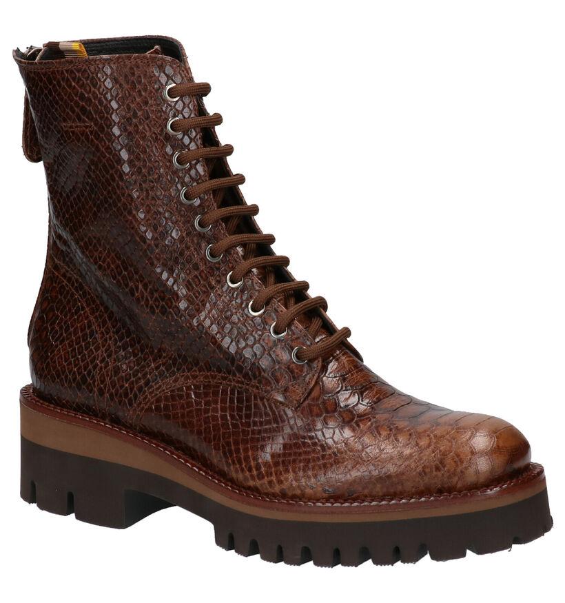 Zinda Cognac Boots in leer (261185)