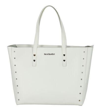Witte Shopper NeroGiardini met Studs , Wit, pdp