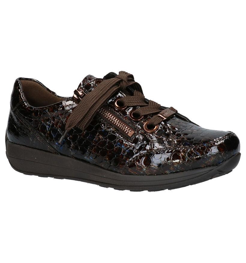 Ara Chaussures à lacets en Brun foncé en verni (264428)