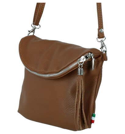Time Mode Lin Zwarte Crossbodytas in leer (265471)