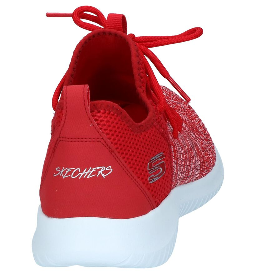 Rode Sneakers Skechers Ultra Flex in stof (251955)
