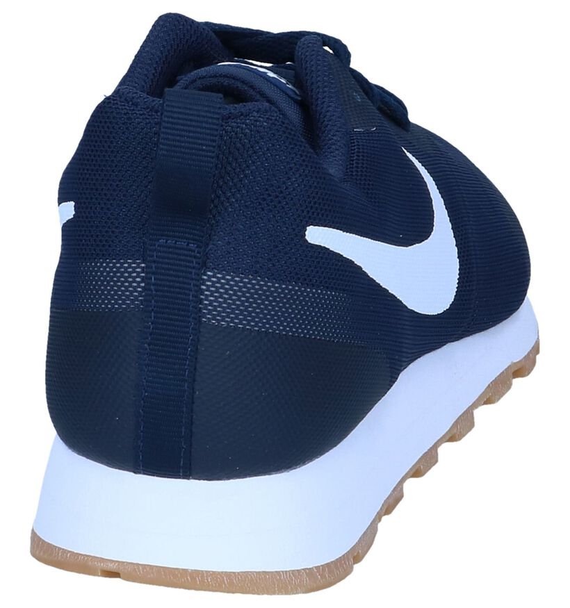 Donkerblauwe Sneakers Nike MD Runner in stof (237859)