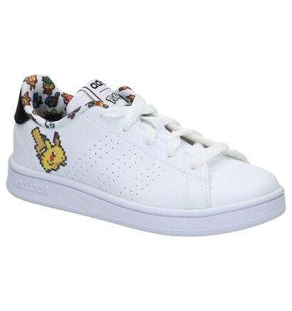 adidas Pokémon Advantage Witte Sneakers in kunstleer (264816)