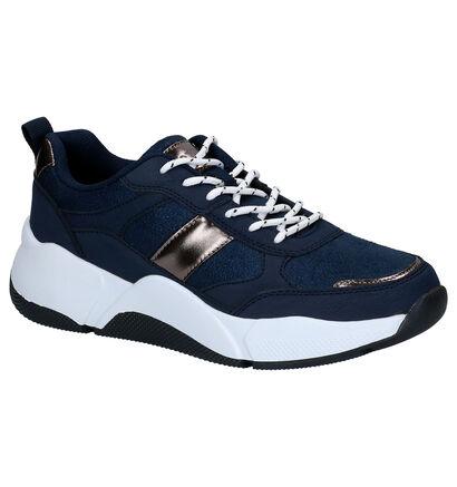 Dazzle Blauwe Sneakers in kunstleer (276493)