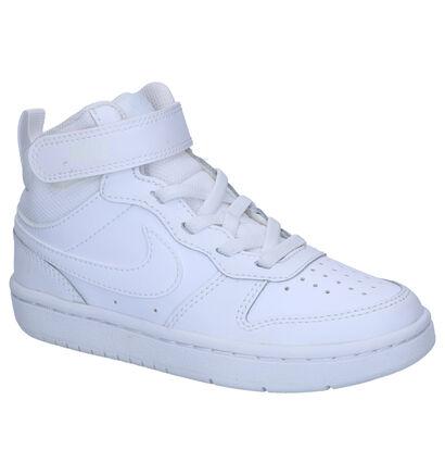 Nike Court Borough Witte Sneakers in kunstleer (254057)