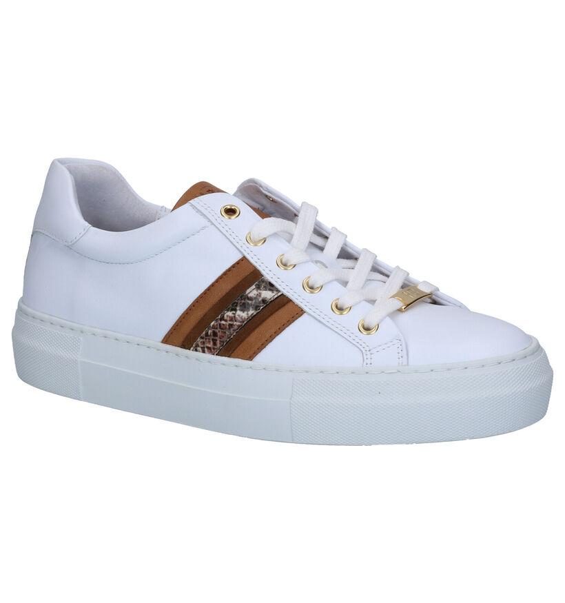 Hampton Bays Witte Sneakers in leer (275164)