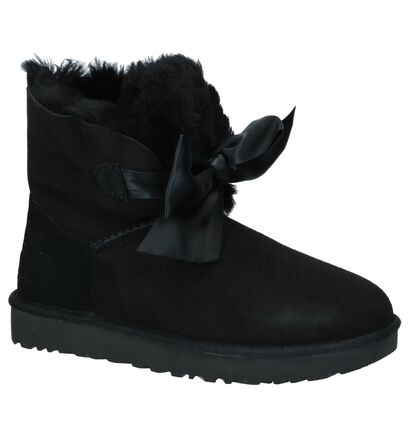 UGG Gita Bow Mini Zwarte Boots, Zwart, pdp