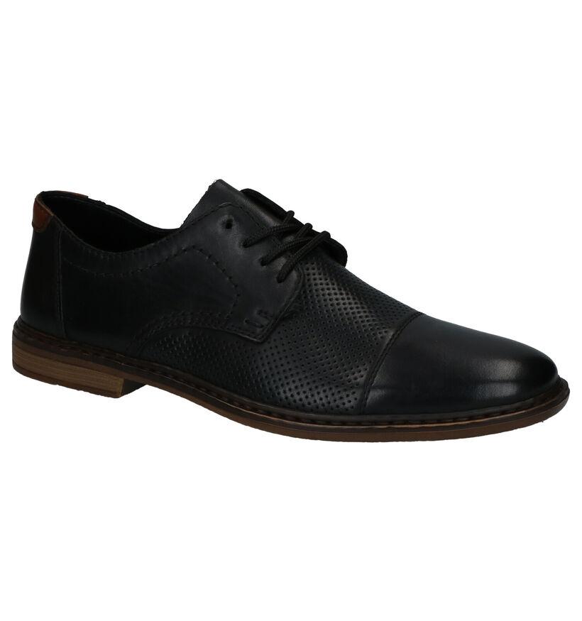 Rieker Chaussures habillées en Noir en cuir (273575)