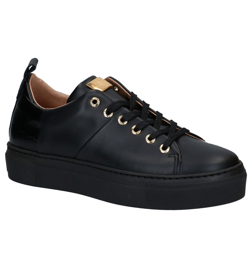 Scapa Chaussures à lacets en Noir en cuir (281247)