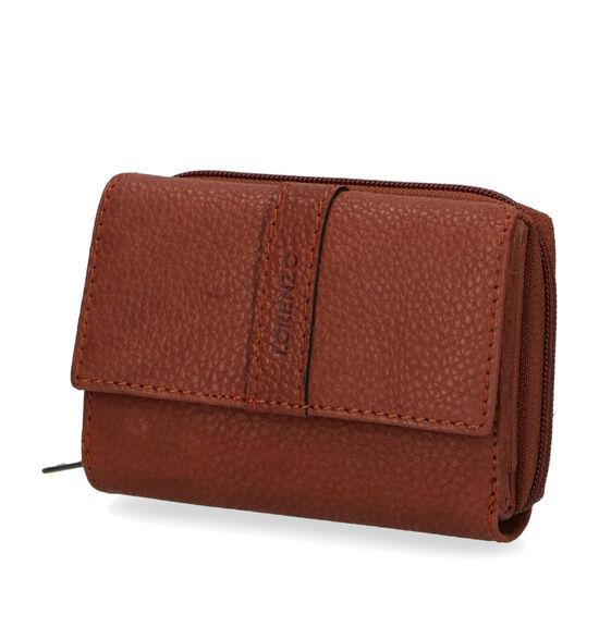 Euro-Leather Cognac Overslagportemonnee