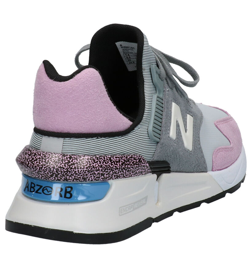 New Balance 997 Baskets Slip-on en Rose en textile (261532)