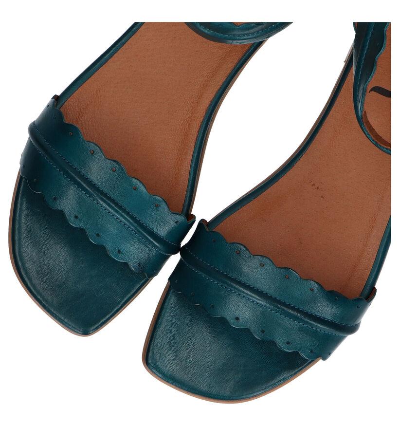 Relance Sandales plates en Noir en cuir (293215)