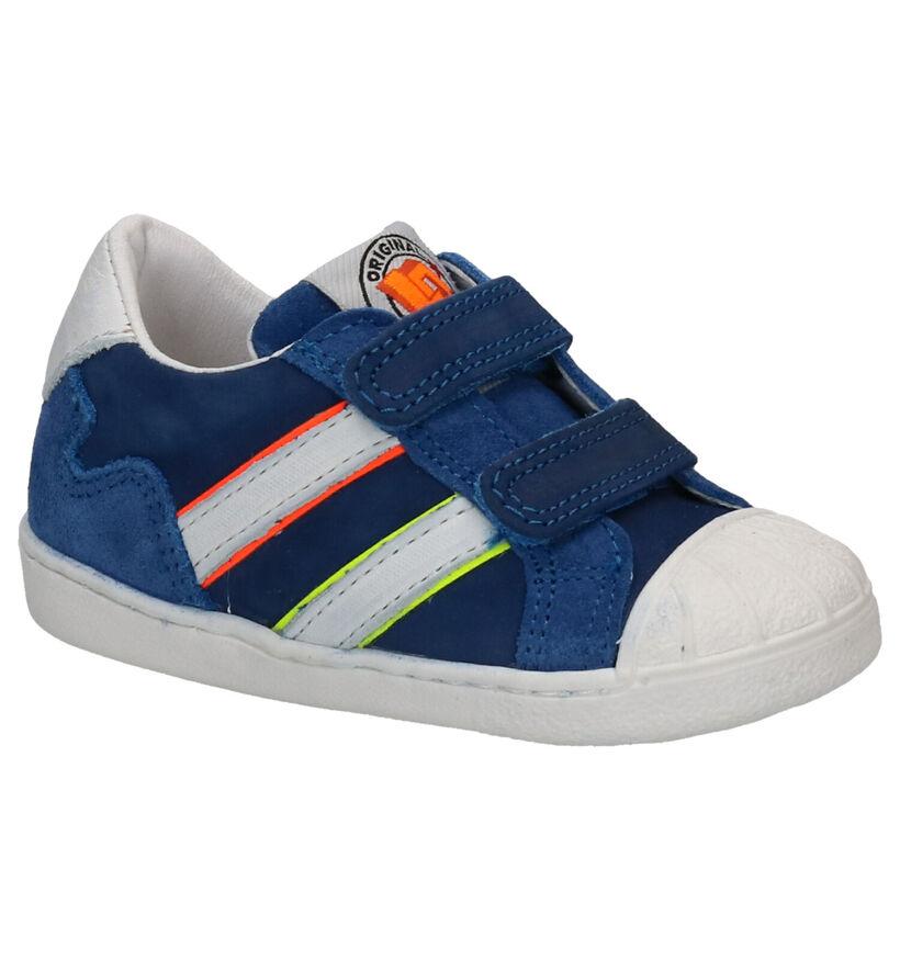 Little David Chaussures basses en Bleu foncé en cuir (273223)