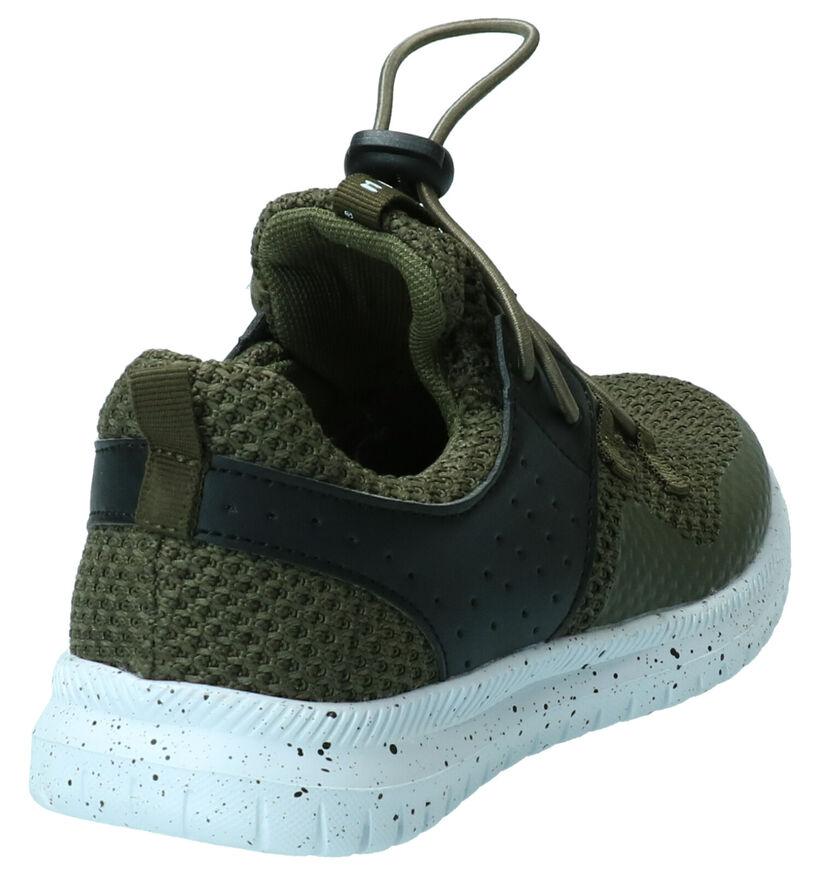 Milo & Mila Kaki Sneakers in stof (269533)