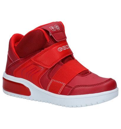 Geox XLed Zwarte Sneakers in stof (254540)