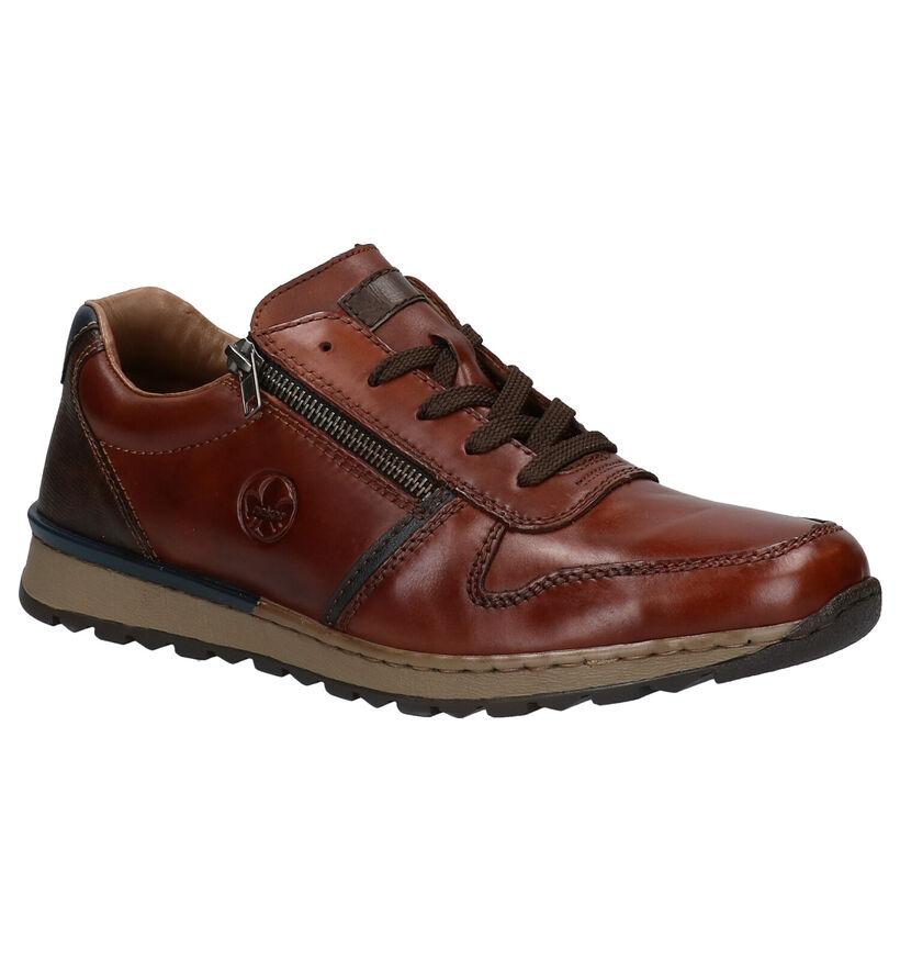 Rieker Chaussures basses en Cognac en cuir (281729)