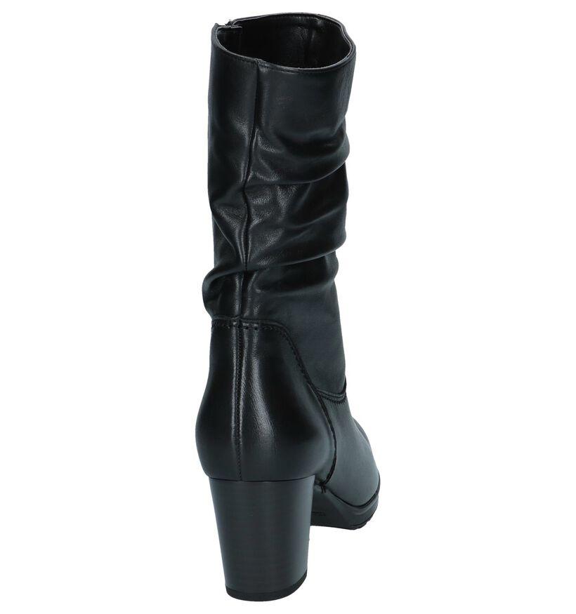 Korte Laarzen Zwart Gabor Best Fitting in leer (231227)